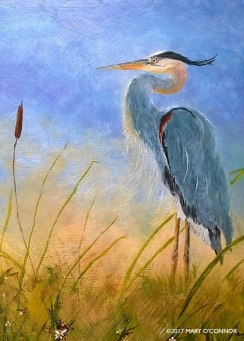 Great Blue Heron (acrylic)